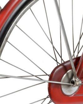 Decoración metal bicicleta roja 111x7x65 cm.