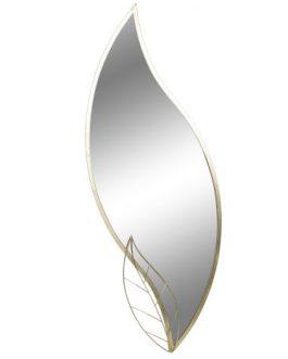 Espejo metal hoja dorado 36x3x104 cm.
