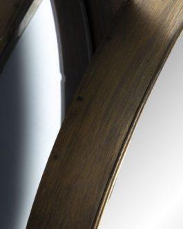 Espejo metal triple cobrizo 130×8,5×50 cm.