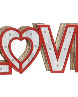 Decoración LED madera «Love»35x4x12 cm.