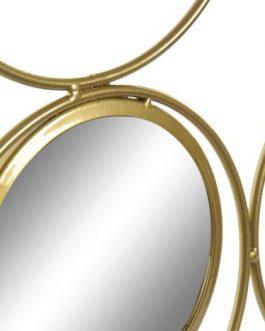 Decoración pared metal espejos 60x2x60 cm.
