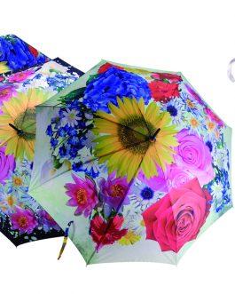 Paraguas flores colores.