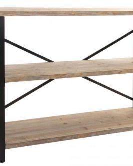 Consola madera metal industrial 120x34x93 cm