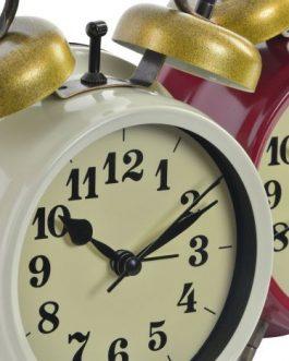 Reloj despertador metal 12x6x16,5 cm