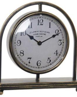 Reloj sobremesa metal 26,5x9x28 cm.