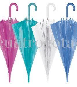 Paraguas transparente colores