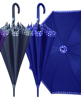 Paraguas automático con ribete estampado