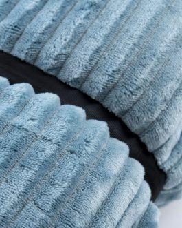 Manta pelo azul 170×130 cm.