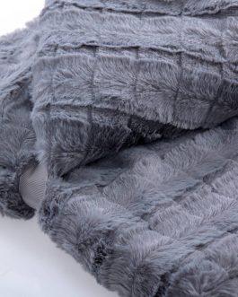 Manta pelo gris 170×130 cm.