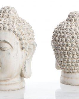Cabeza Buda cerámica 20,5x20x28 cm
