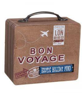 Hucha forma maleta «Bon Voyage» 15x13x7 cm