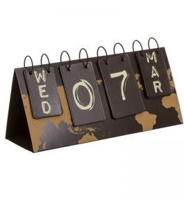Calendario metal «Travel» 27x15x11 cm.