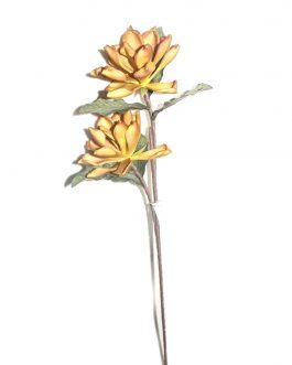 Flor foam mostaza 80 cm.