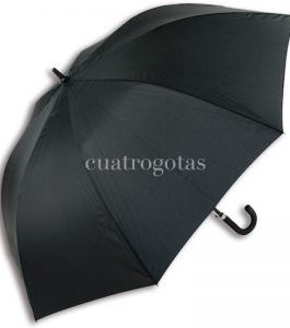 Paraguas negro grande antiviento.