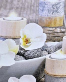 Lienzo velas 40×40 cm
