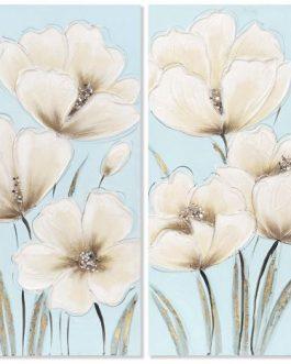 Lienzo flores 40x3x80 cm