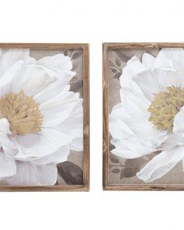 Lienzo flor con marco 42×42 cm.