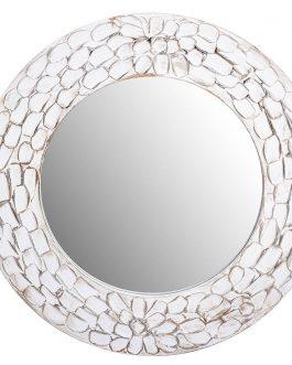 Espejo marco madera con relieve 50x2x50 cm.
