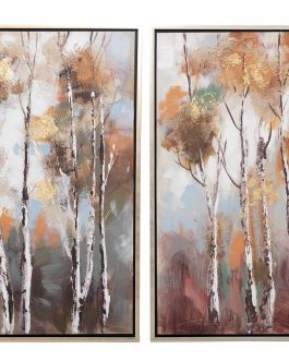 Lienzo árboles con marco 75x4x105 cm.