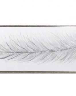 Lienzo pluma con marco champagne 54×3,8×154 cm