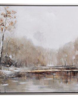 Lienzo paisaje con marco 120x4x80 cm.