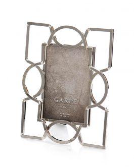 Portafoto metal plateado foto10x15 cm
