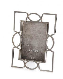 Portofoto metal plateado foto 13×18 cm.