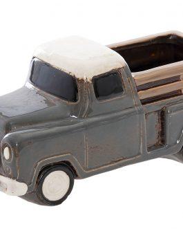 Macetero camión cerámica 25x11x12 cm