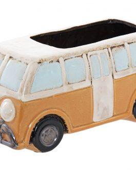 Macetero furgoneta cerámica 27x13x13 cm