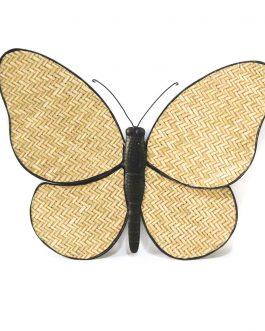 Mariposa caña/metal 51x3x40 cm