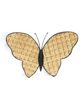 Mariposa caña/metal 46x2x29 cm