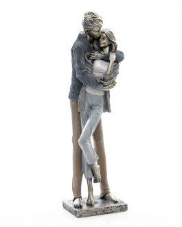 Figura pareja resina 15x15x46 cm.