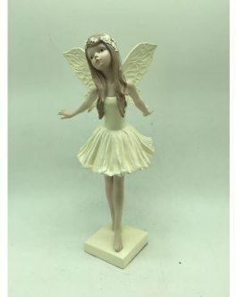 Figura hada resina 12x12x26 cm