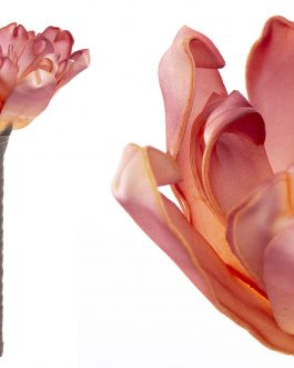 Flor foam rosa/naranja 20x20x37 cm