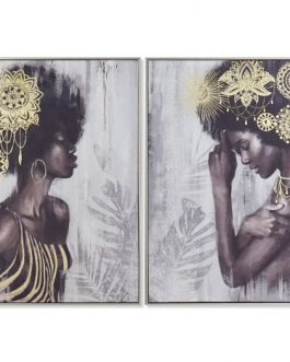 Cuadro lienzo africana 82×4,5×82 cm