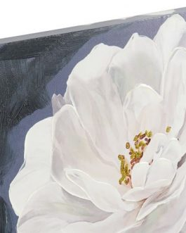 Lienzo mujer con flores 80×120 cm