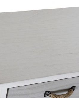 Cajonera paulownia 40x29x90 cm decapé gris.