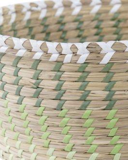 Cesta seagrass verde.