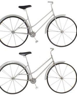 Decoración pared metal bicicleta 88x9x51 cm
