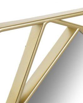 Set 3 espejos geométricos dorados 25x25x25 cm