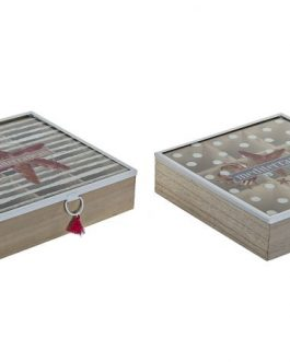 Caja infusiones «Marino» 24x24x7 cm