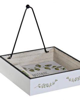 Servilletero madera/metal Botanic 18x18x4,2 cm