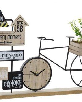 Reloj sobremesa bicicleta 43,5x9x28 cm