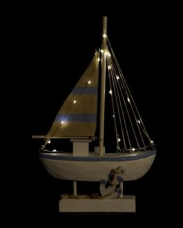 Barco con LED 26,5x8x44 cm