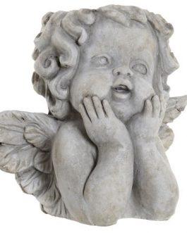 Macetero cemento ángel 26x18x25 cm
