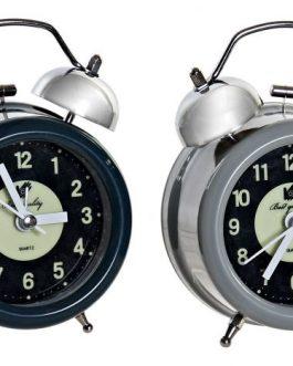 Reloj despertador metal 9×5,5×12 cm
