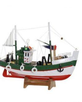 Barco madera 22,5×7,5×18,5 cm