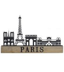 Deco pared metal París 41×1,2×24,5 cm