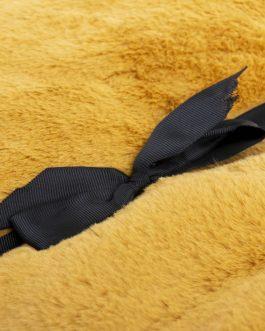 Manta pelo color mostaza 170×130 cm