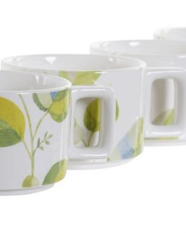 Set de café, 4 taza 260 ml.